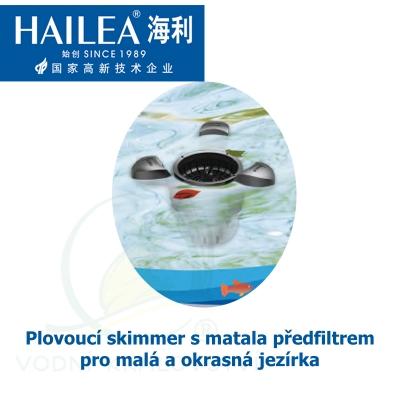 Plovoucí skimmer s matala předfiltrem pro malá a okrasná jezírka