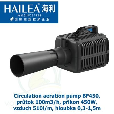 Circulation aeration pump BF450, průtok 100m3/h, příkon 450W, vzduch 510l/m, hloubka 0,3-1,5m