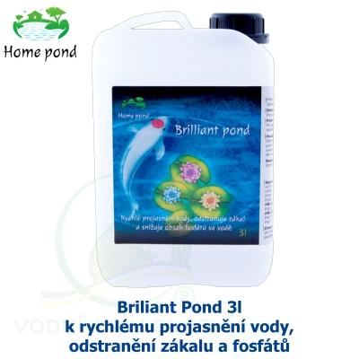 Briliant Pond 3l - k rychlému projasnění vody, odstranění zákalu a fosfátů