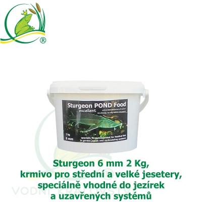 Sturgeon 6mm 2Kg, krmivo pro střední a velké jesetery, speciálně vhodné do jezírek a uzavřených systémů