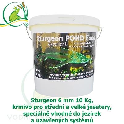 Sturgeon 6mm 10Kg, krmivo pro střední a velké jesetery, speciálně vhodné do jezírek a uzavřených systémů