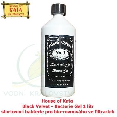 House of Kata Black Velvet Bacterie Gel 1 litr, startovací bakterie pro bio-rovnováhu ve filtracích