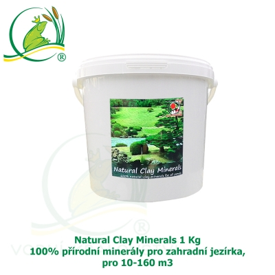 Natural Clay Minerals 1 kg - 100% přírodní minerály pro zahradní jezírka, pro 10-160 m3