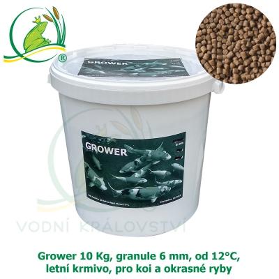 Grower 10 Kg, granule 6 mm, od 12°C, letní krmivo, pro koi a okrasné ryby