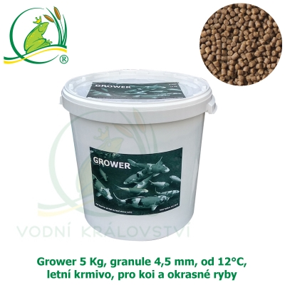 Grower 5 Kg, granule 4,5 mm, od 12°C, letní krmivo, pro koi a okrasné ryby