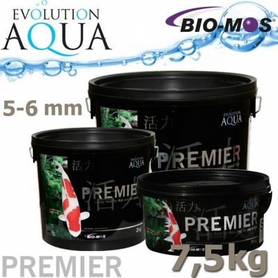 EA Premier, extra kvalitní krmivo pro střední a velké ryby, speciálně pro koi, velikost 5-6 mm, balení 7,5 kg, cca 20 litrů