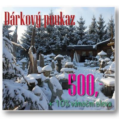 dárkový poukaz Vodní Království, 500 Kč, zimní +10% sleva