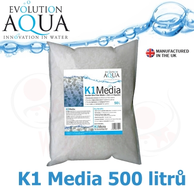 Evolution Aqua Kaldnes K1 media 500 litrů