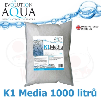 Evolution Aqua Kaldnes K1 media 1000 litrů