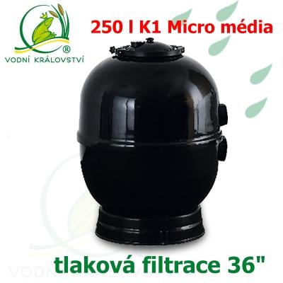 """Tlaková filtrace 36"""", pro 50-250 m3, 250 l K1 Micro"""