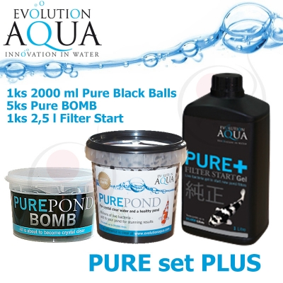 Pure Bacterial Set Plus = 5x Pure BOMB + Pure 2000 ml + Pure Gel 2,5 litru