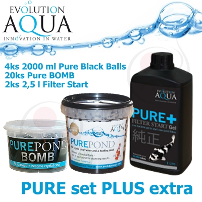 ure Bacterial Set Plus Extra = 20x Pure BOMB + Pure 8000 ml + Pure Gel 5 litrů