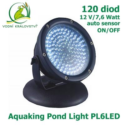 Aquaking Pond Light PL6LED, 7,6 Watt/120 diod