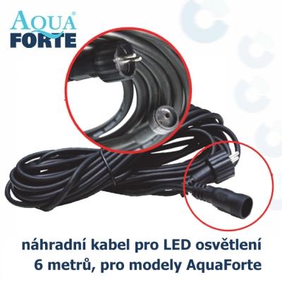 AquaForte kabel pro LED osvětlení, 6 metrů