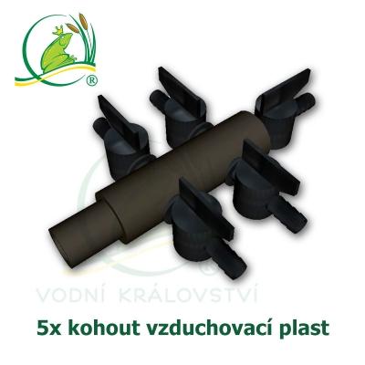 vzduchovací rozdvojka, plastová 5x