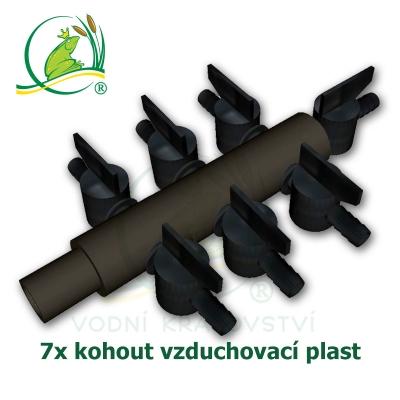 vzduchovací rozdvojka, kohout 7x, plastová