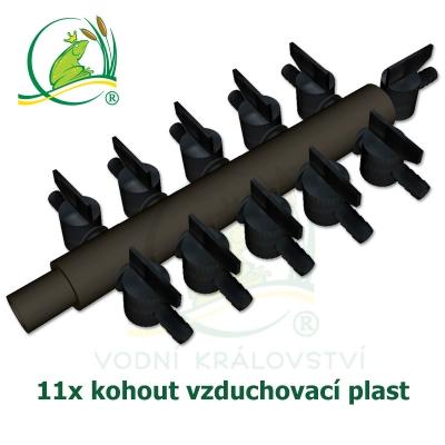 vzduchovací rozdvojka, kohout 11x, plastová