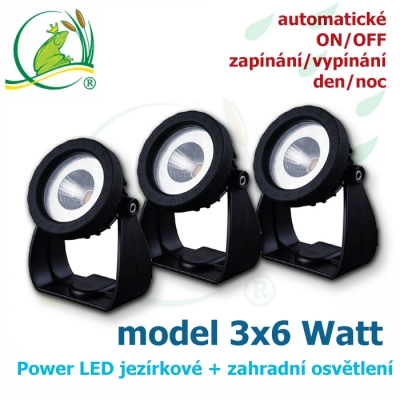 Power LED light 3x6 Watt automatic