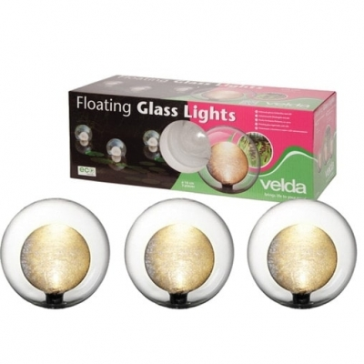 Velda Floating Glass Lights