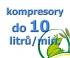 kompresory, výkon do 10  l/min.