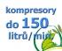 kompresory, výkon do 150  l