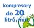 kompresory, výkon do 20  l/min.
