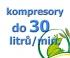 kompresory, výkon do 30  l/min.