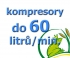 kompresory, výkon do 60  l/min.