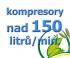 kompresory, výkon nad 150  l